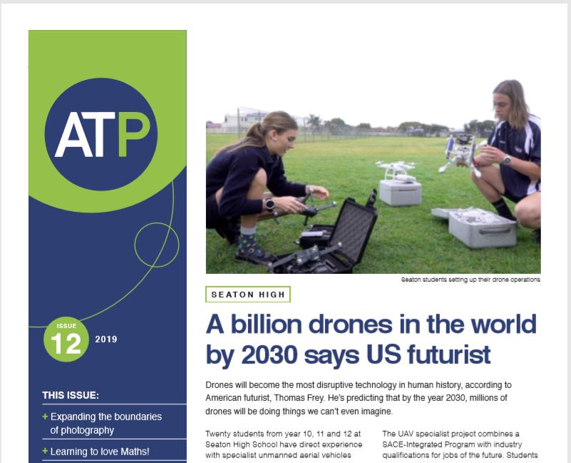 ATP newsletter half cover snip