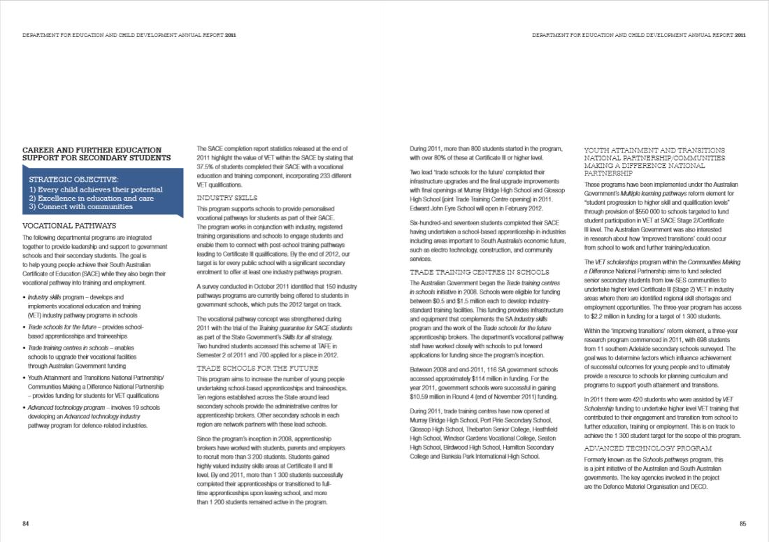DECD Annual Report 2011 spread